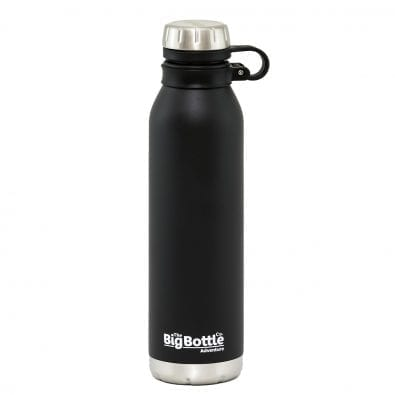 Jet Black Adventure Vacuum Insulated 750ml Water Bottle
